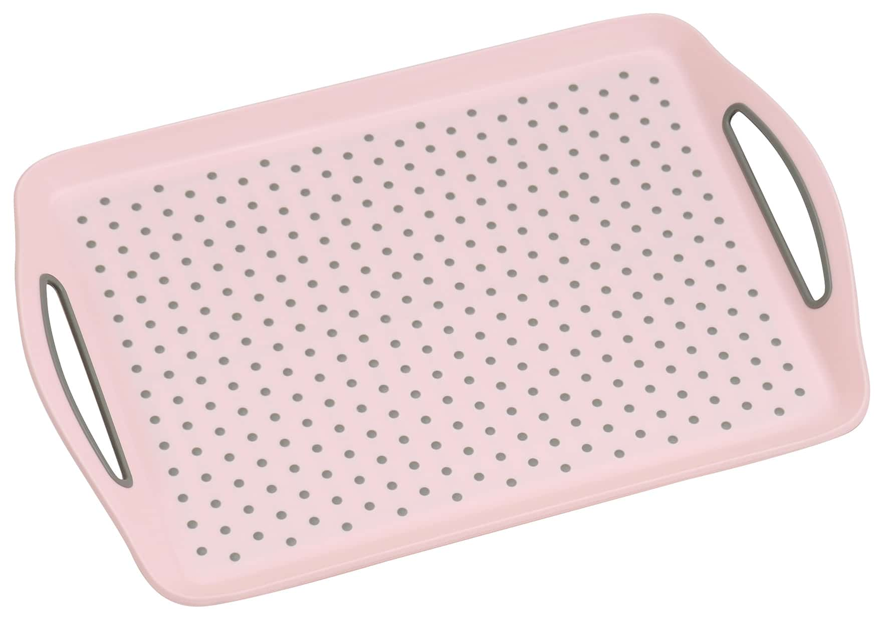 Anti-slip dienblad 45,5x32x4,5 cm - Dienblad Rechthoek - Roze
