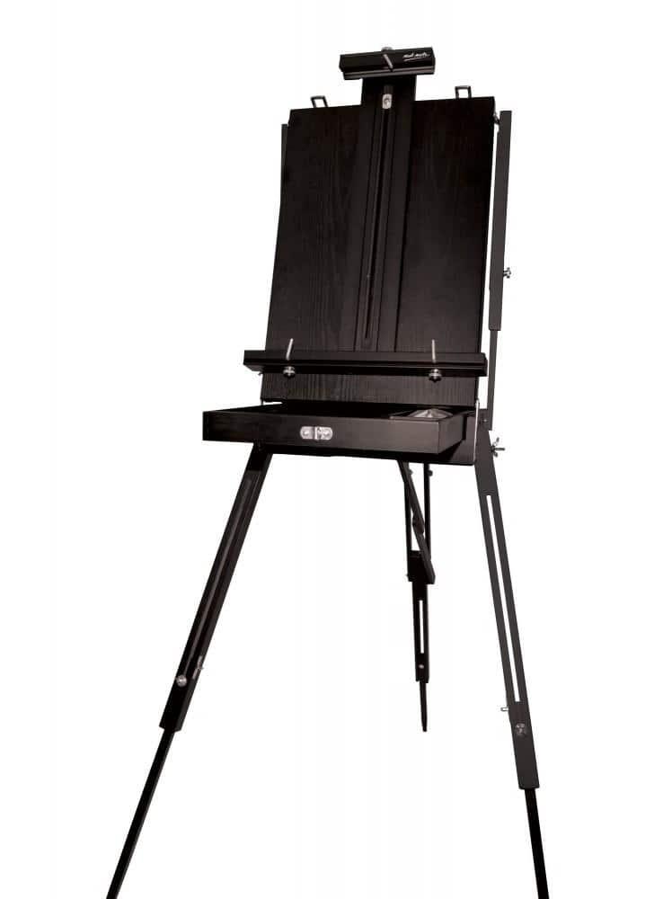 Mont Marte® zwart franse ezel met opberglade - 71 x 45,5 x 144-180 cm