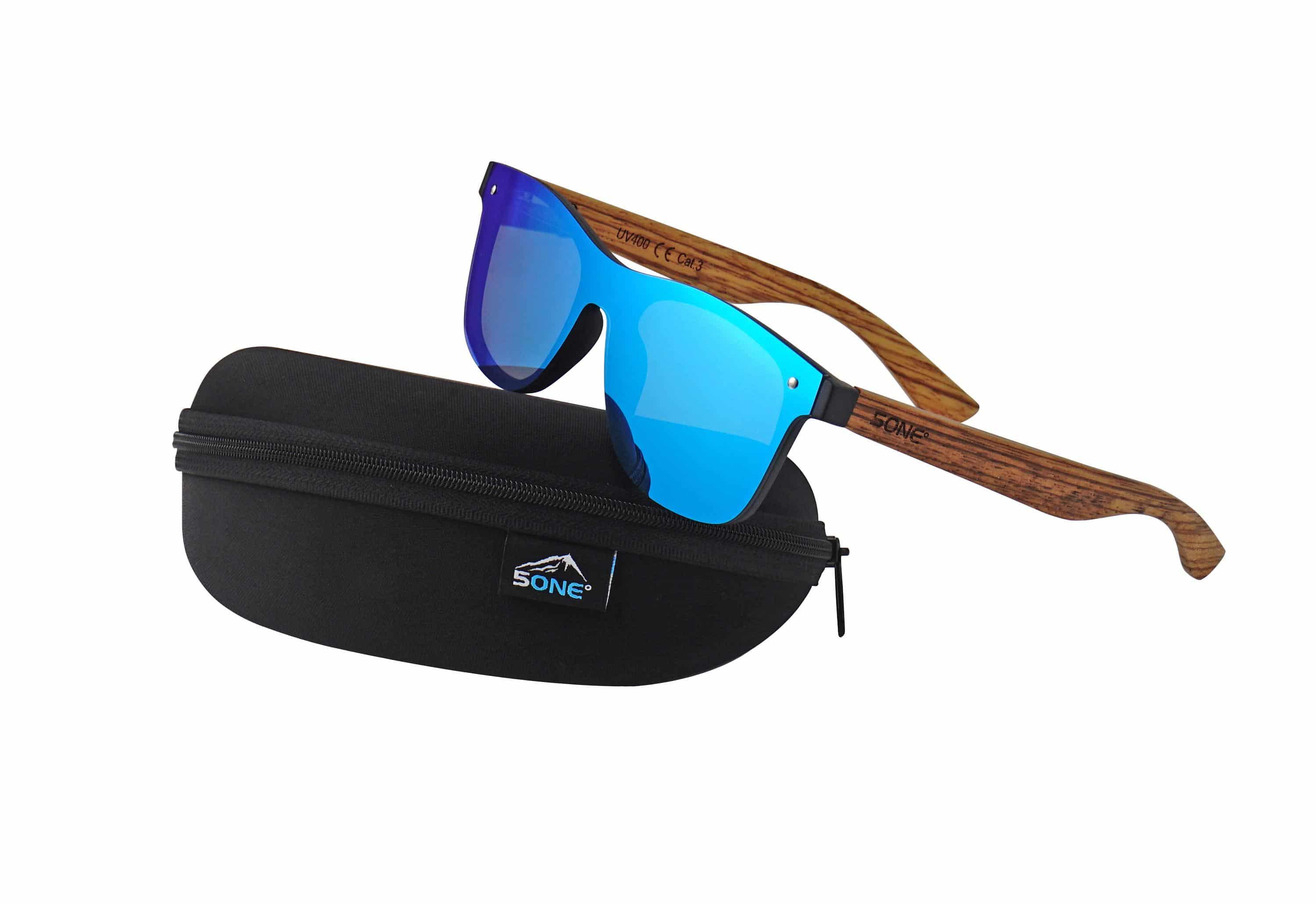 5one® Hvar Zebra Ice Blue - wayfarer flat zonnebril