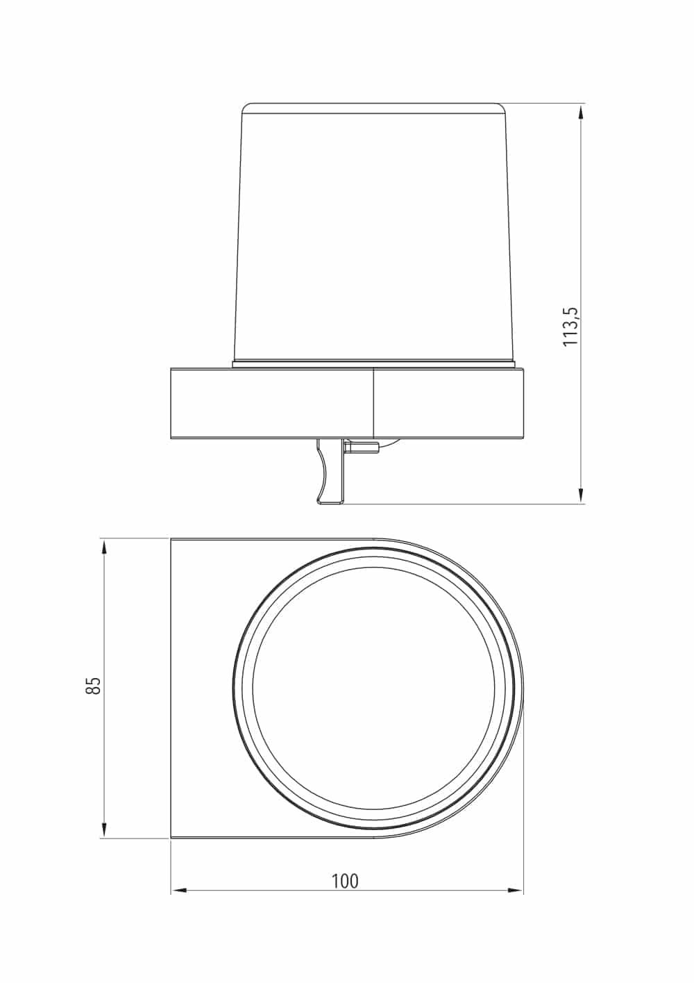 Luzzo® Piazzo Messing Zeeppomp Rond met wandhouder - chroom