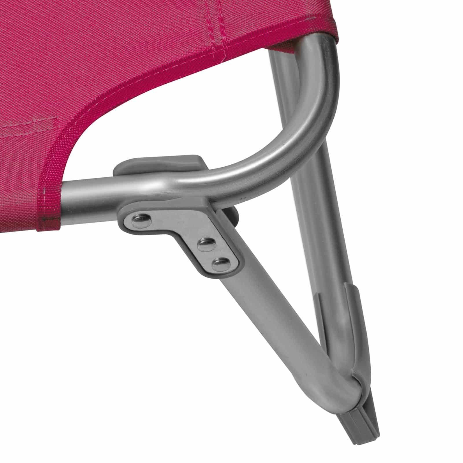 Comfortabel Aluminium Ligbed met Zonnendak 190x57 cm - Bordeauxrood