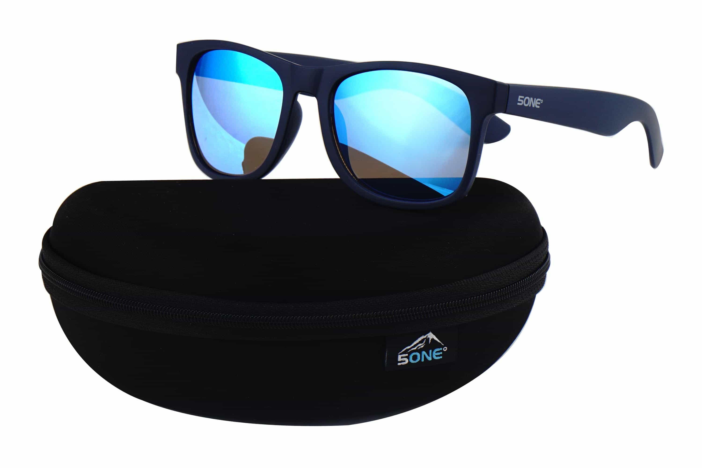 5one® No.4 Indigo zonnebril - donkerblauw model - Revo Blue glazen