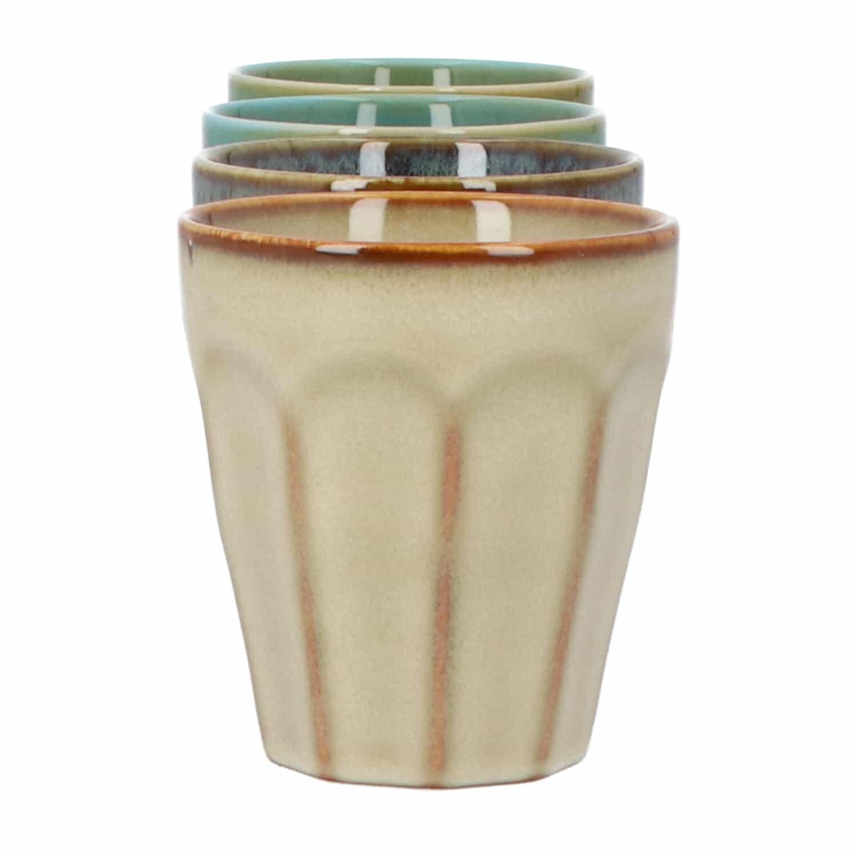 4goodz Porseleinen Koffie kopjes 25 cl - set a 4 stuks