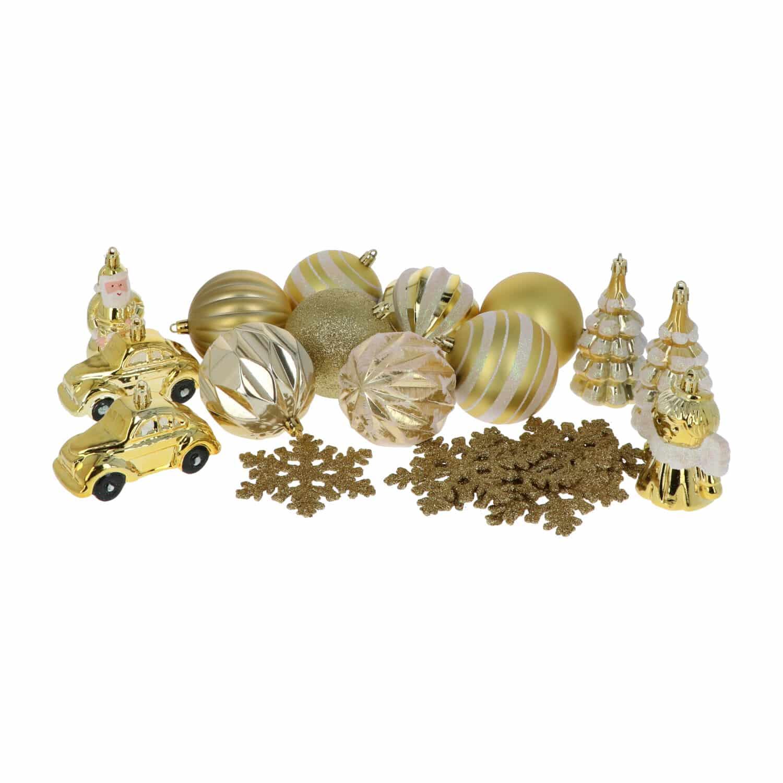 4goodz 20-delige Decoratieve Kerstballenset Goud - binnen/buiten