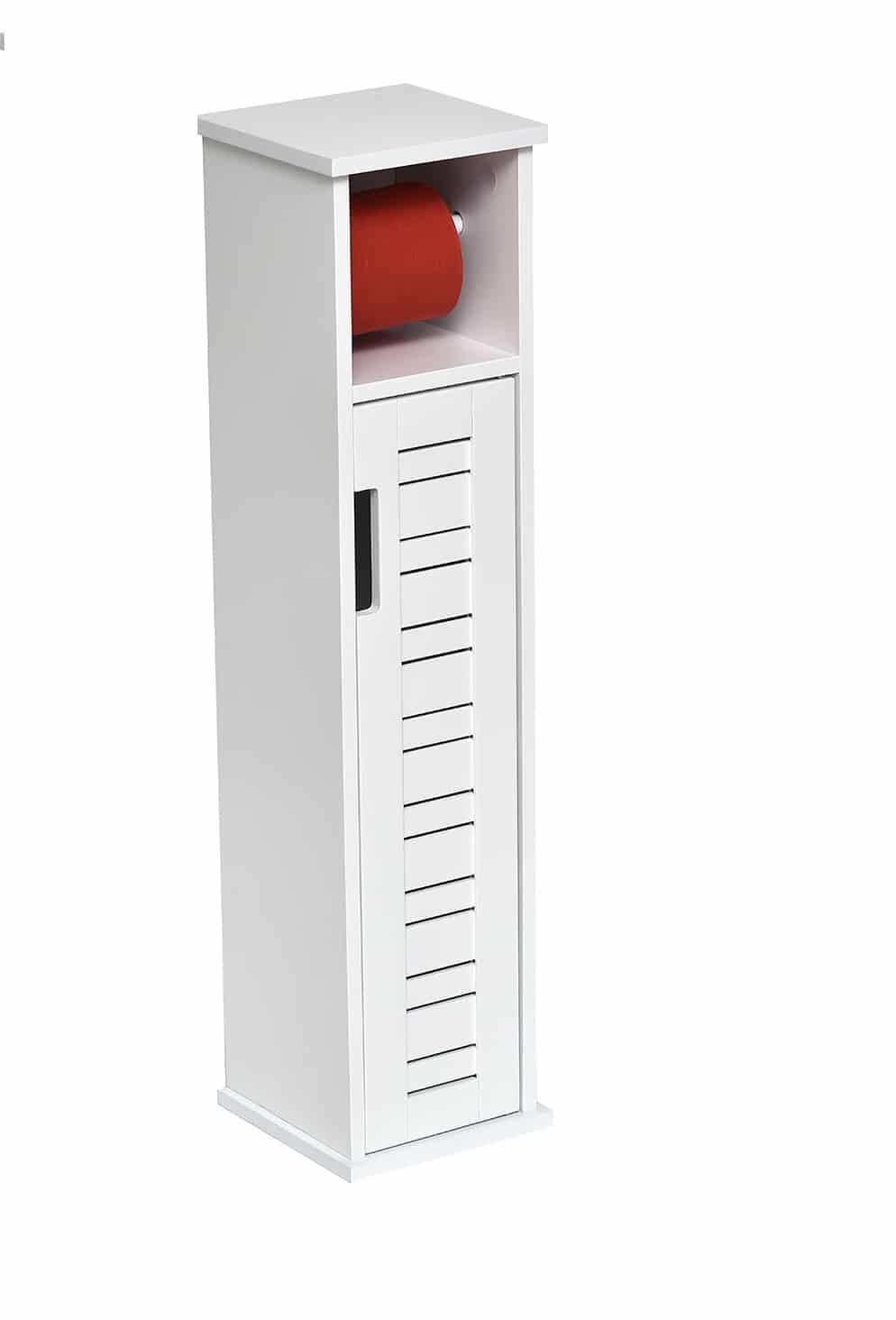 Toiletrolhouder met toiletroldispenser Miami - 18x18x75 cm - Wit