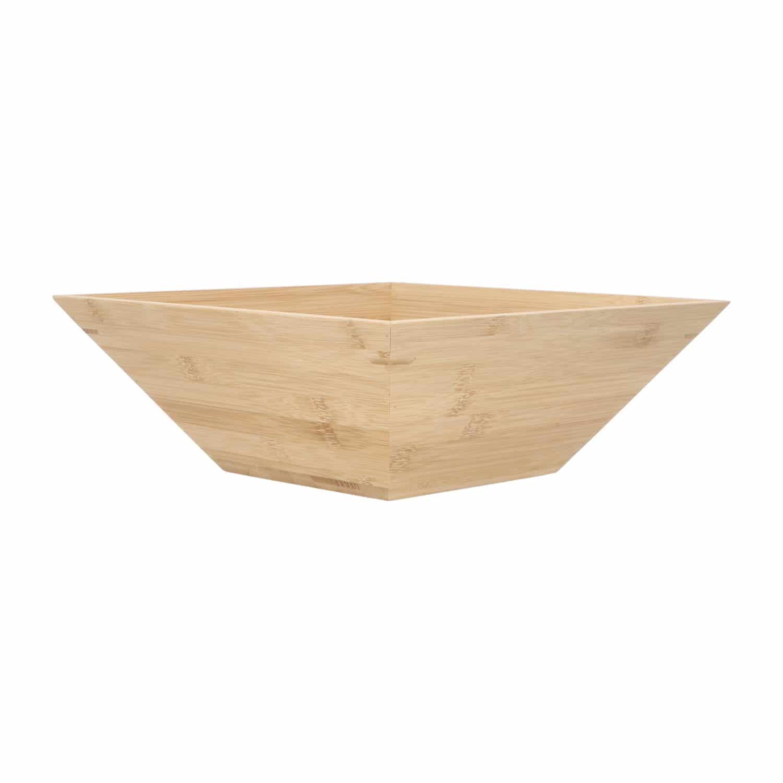 4goodz Vierkante Fruitschaal van Bamboe 28x28cm - Bruin