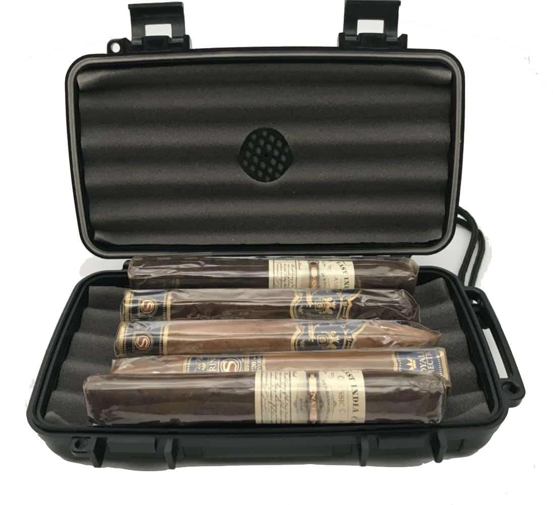 Sigaren reis humidor 21.59X12.7X4.45cm - geschikt voor 5 stuks