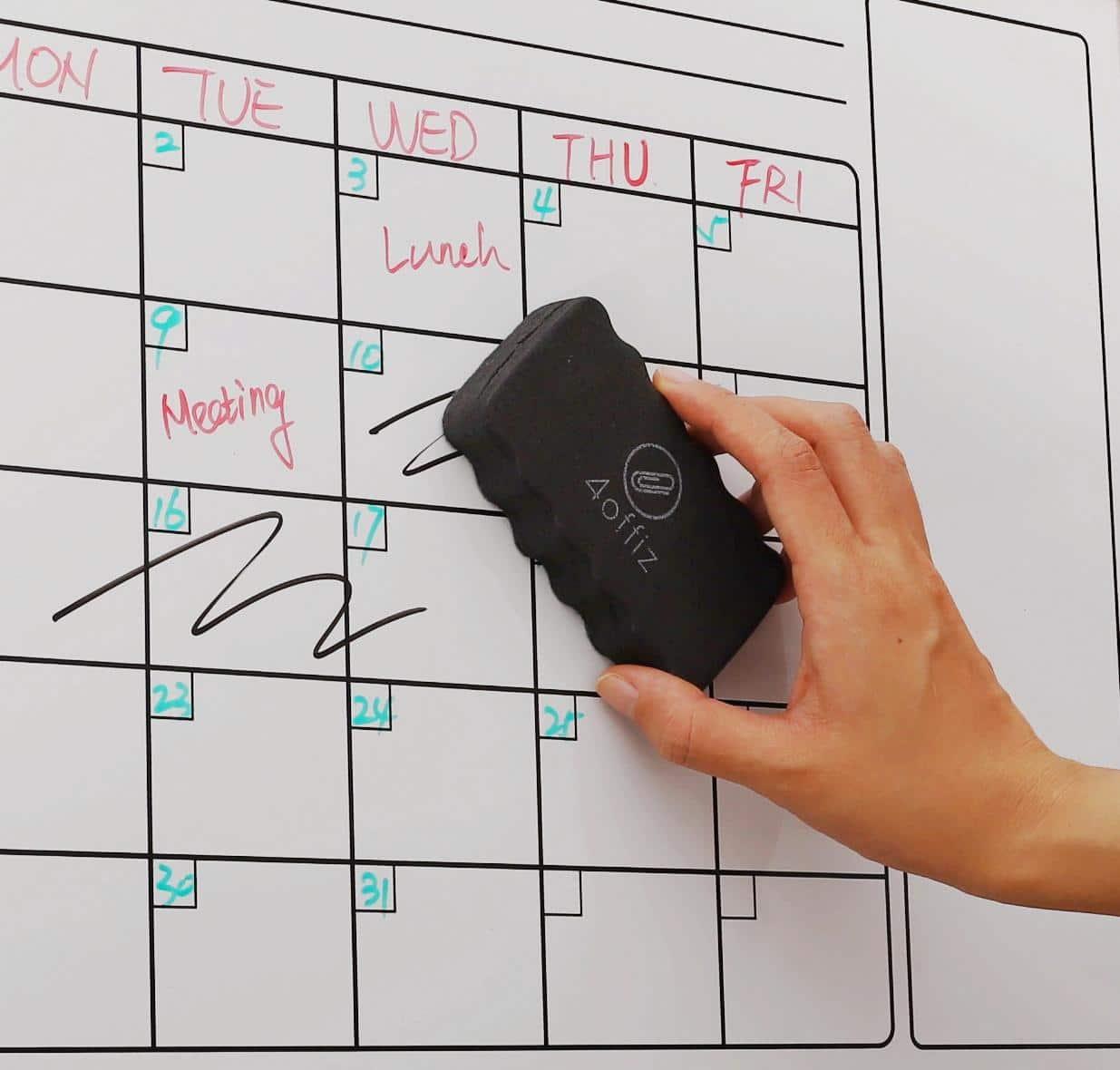 4Offiz toebehoren set whiteboard / flipover - 10 markers en een wisser