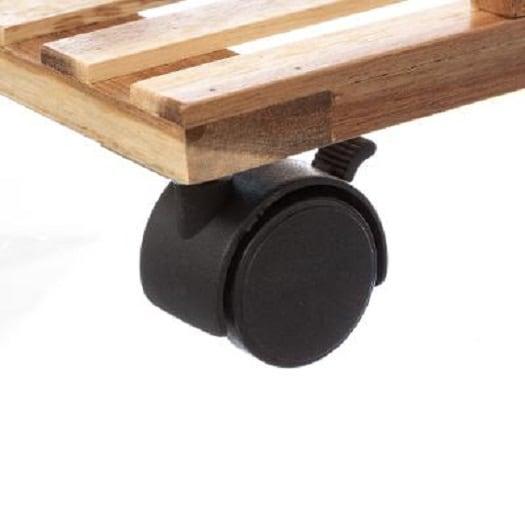 4Goodz gelakt 4-laags badkamertrolley - 41x31x88 cm - Zwart/Bruin