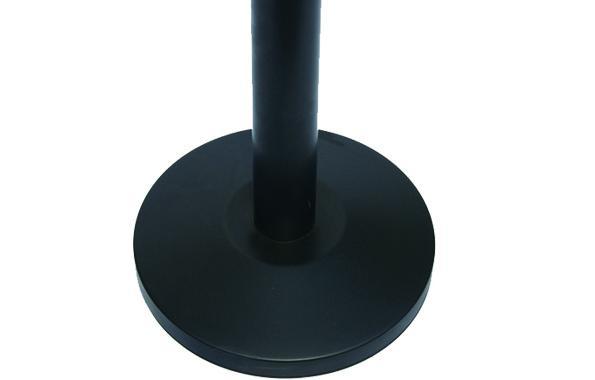 4offiz Hollywood Black set van 2 zwarte RVS afzetpalen met 3 mtr lint