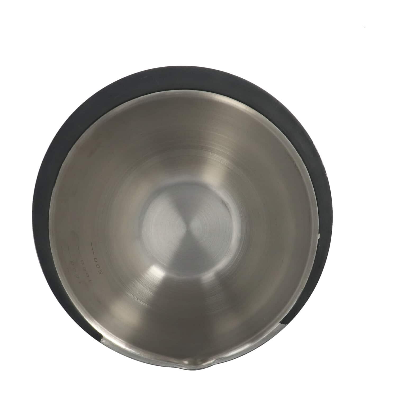 4Goodz Mengkom RVS 2,2 liter met Anti-slip onderkant - Beslagkom
