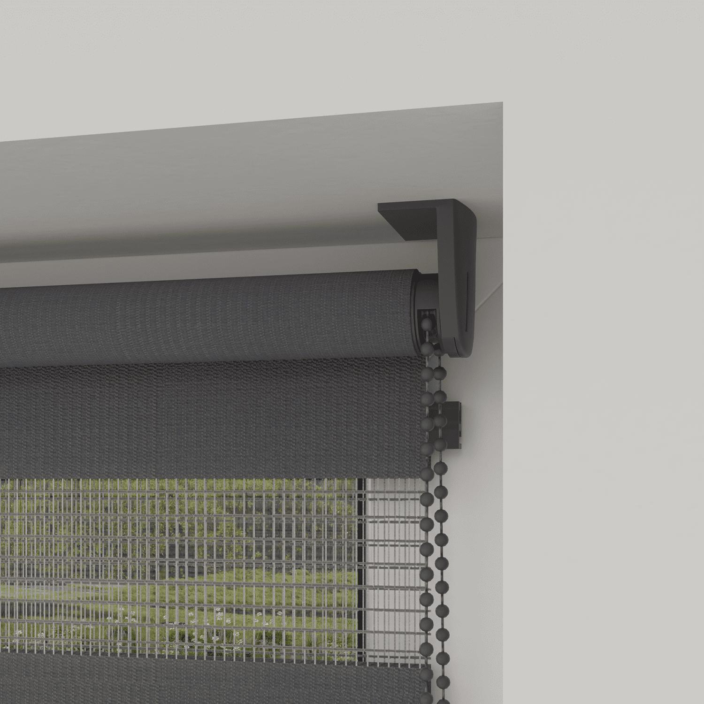 4goodz Duo Rolgordijn Easy Lichtdoorlatend 120x180 cm - Donkergrijs