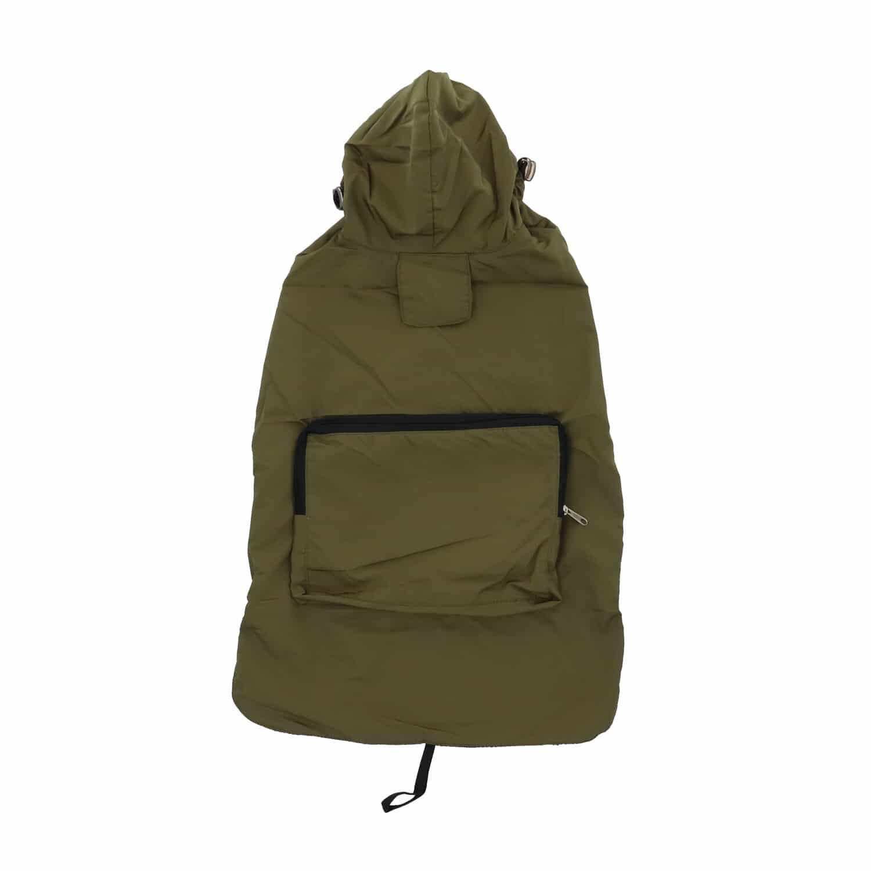 4goodz Honden Regenjas met hoodie Medium - 40 cm - Groen
