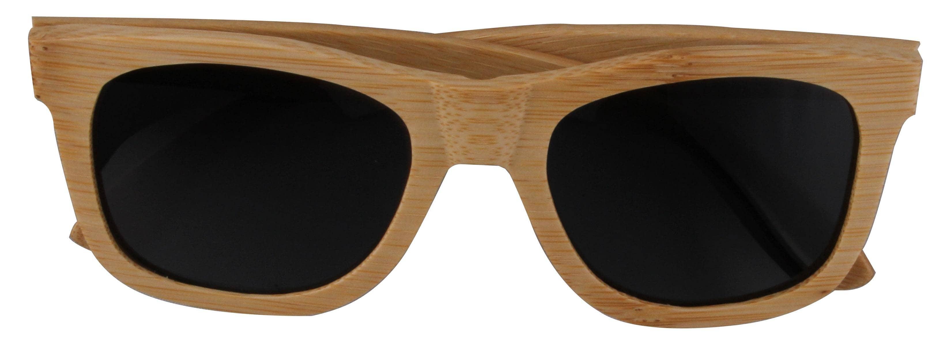 5one® Bamboo Grey Bamboe hout Wayfarer Zonnebril - Grijze lens
