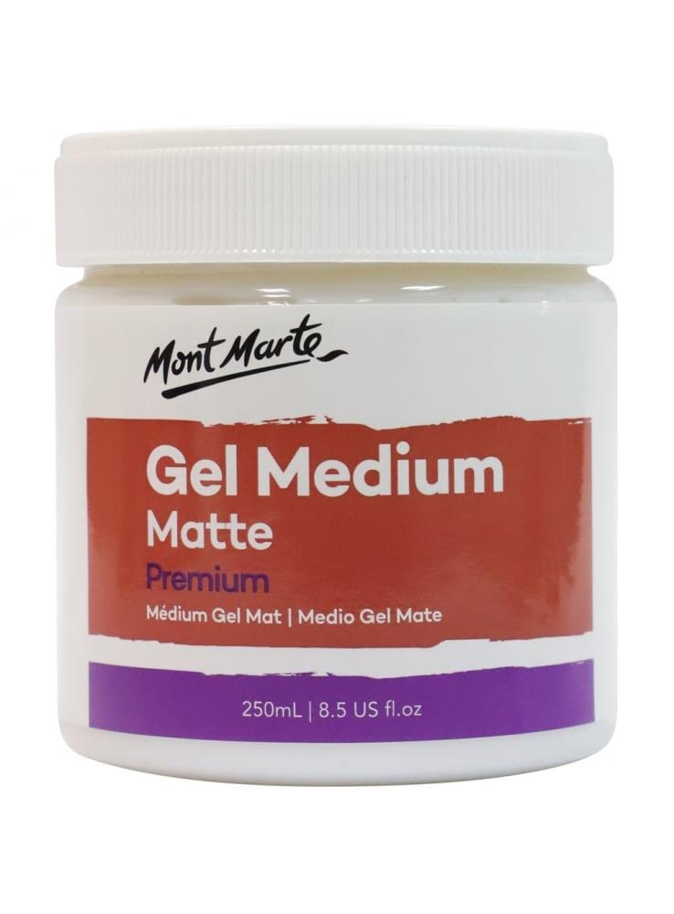 Mont Marte® Premium Gel Medium Mat 250ml - glansafwerking schilderen