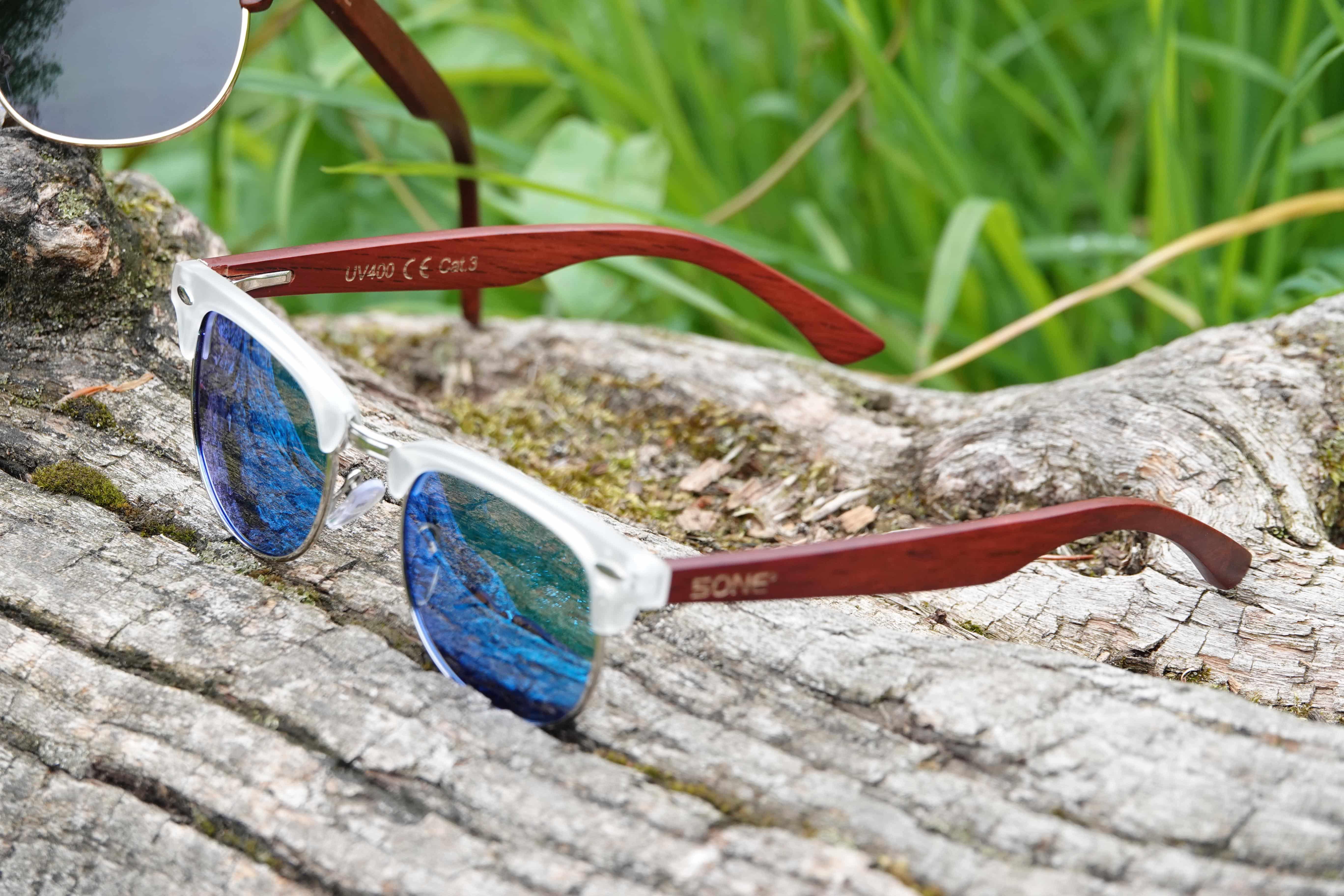 5one® Capri Blue - blauwe lens - transparant frame - clubmastermodel
