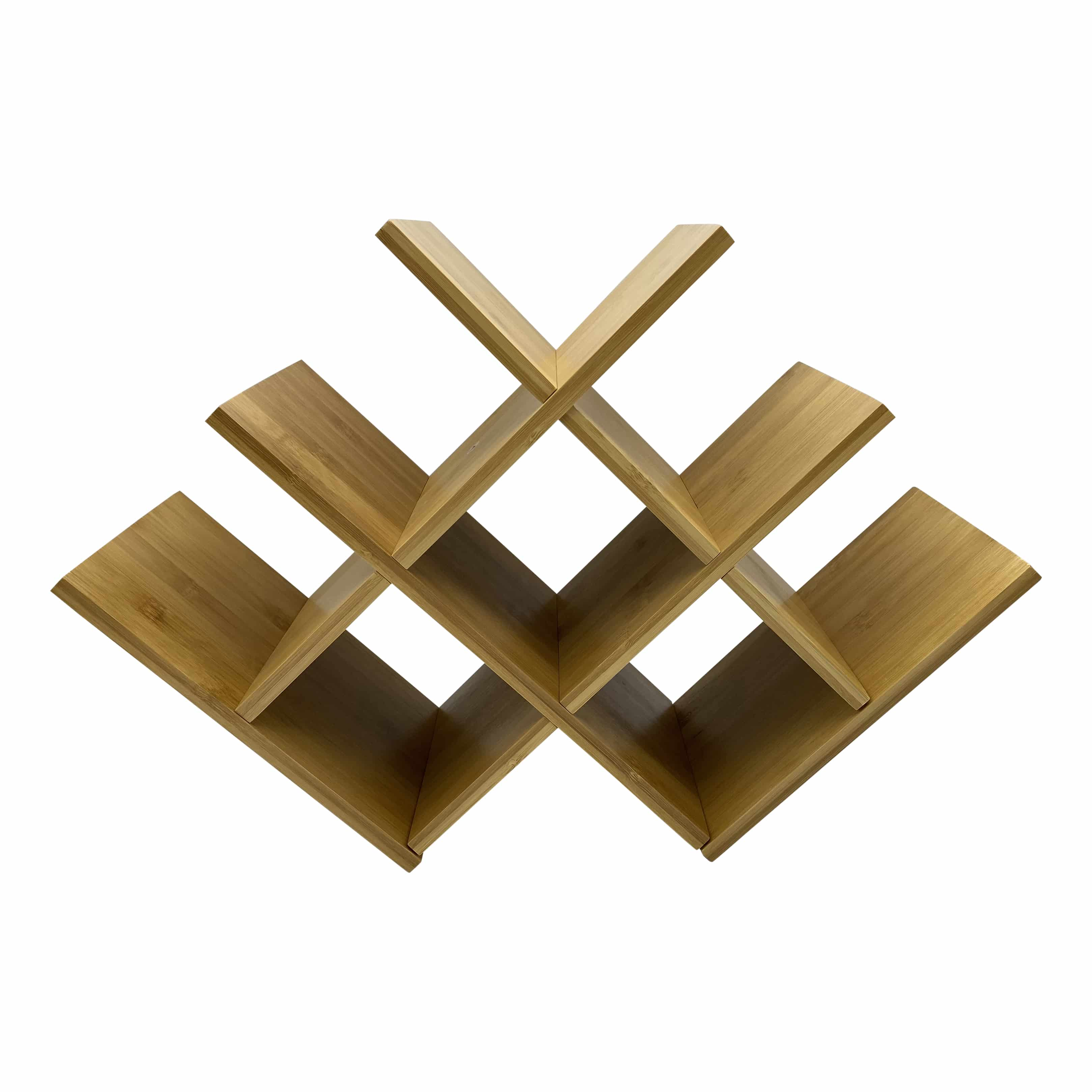 4goodz wijnrek 8 flessen bamboe 46,5x16,5x32 cm