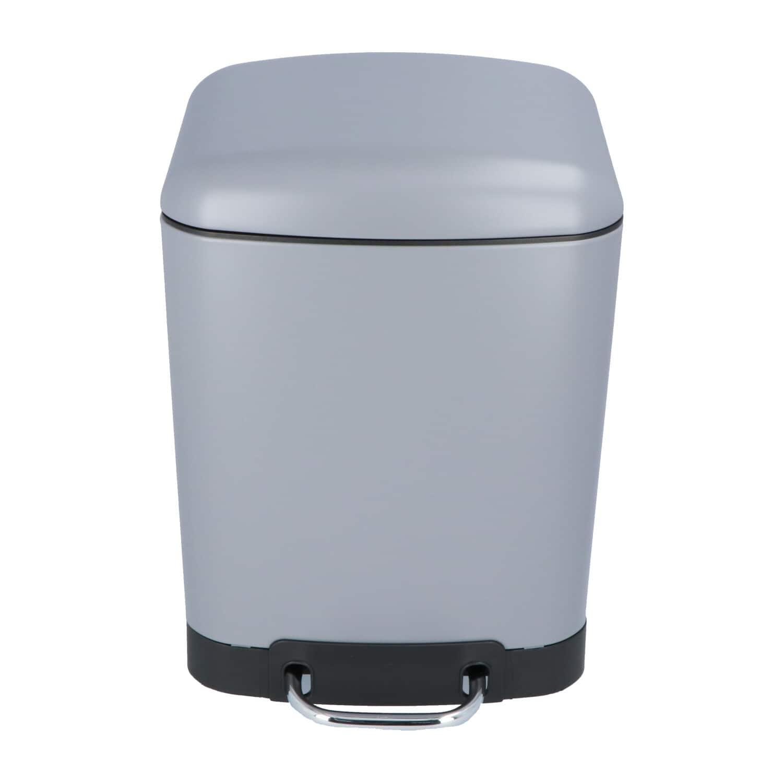 4goodz Pedaalemmer 6 liter met uitneembare binnen emmer - Grijs