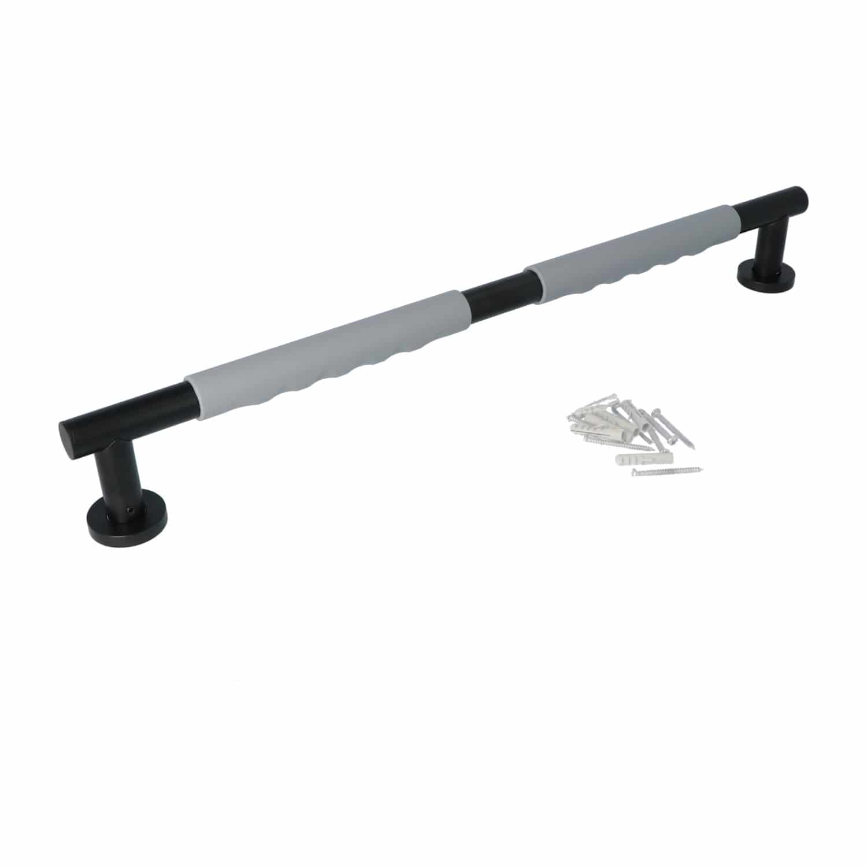 Luzzo® Fisso Soft Handgreep Badkamer/Toiletgreep 60 cm - Zwart/Grijs