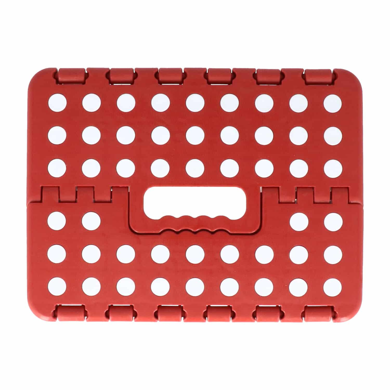 4goodz Opvouwbare keukenkruk met anti-slip noppen 25x32x22 cm - Rood