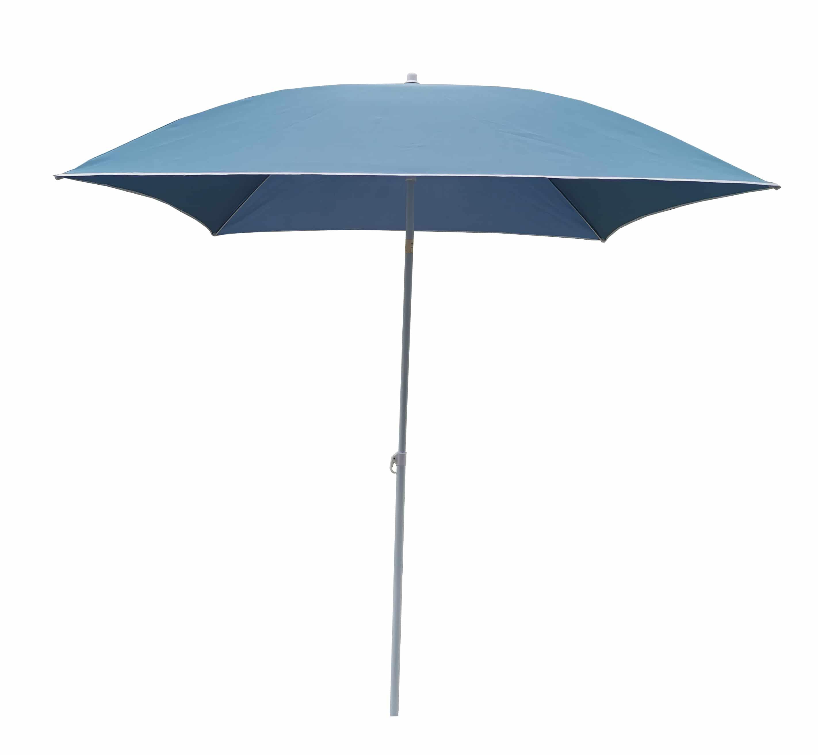 4goodz Strandparasol/Balkonparasol Vierkant - 180x180x239 cm - Blauw