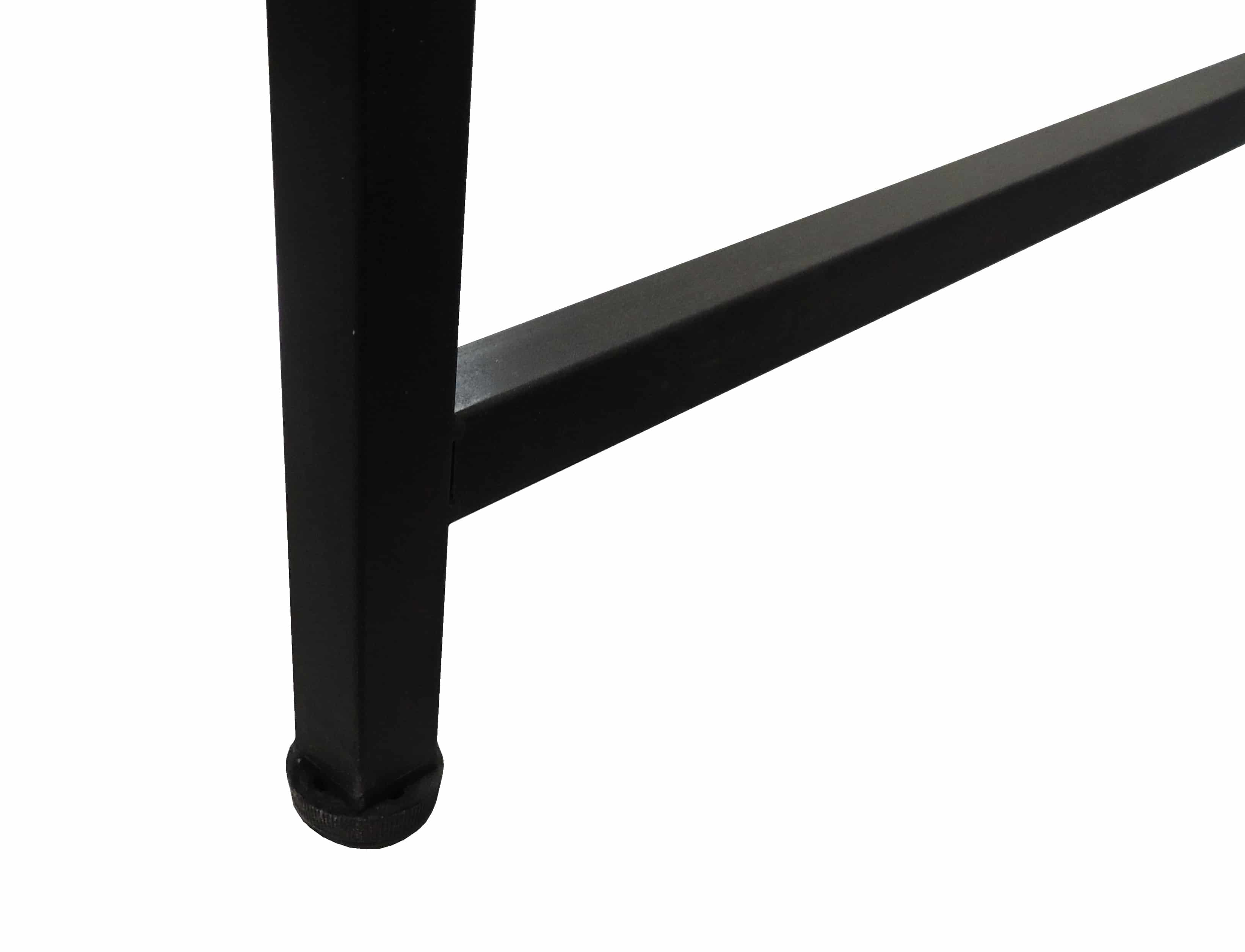 4livingz Retro industrieel Bureau 120x60x75 cm - zwart/bruin
