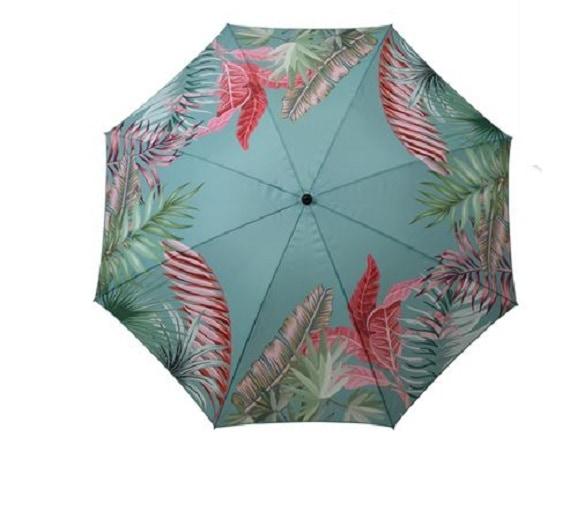 4gardenz Tropical strandparasol met knikarm 200 cm - Turquoise