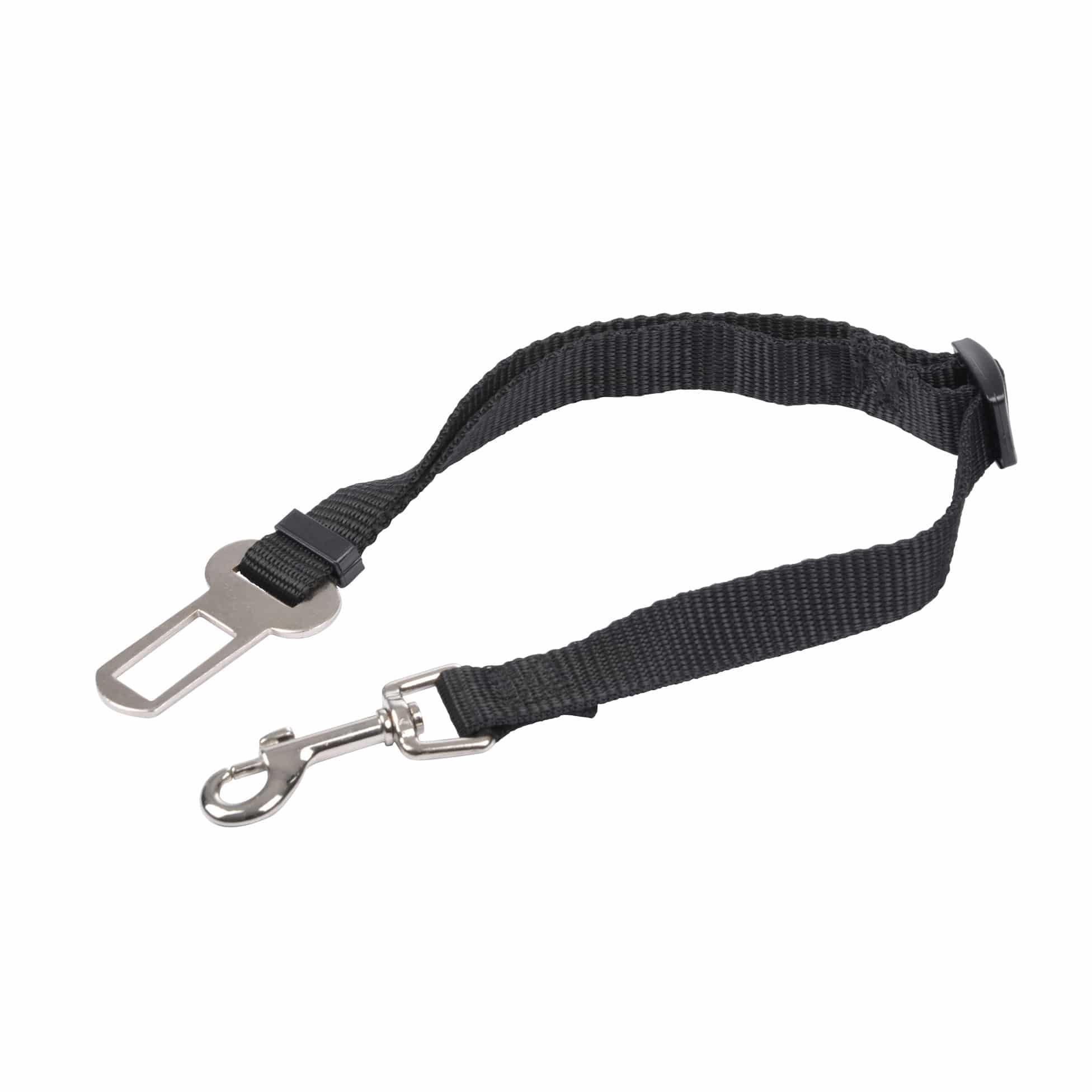 4goodz autogordel hondenriem 30-50cm - veiligheidsgordel hond - Zwart