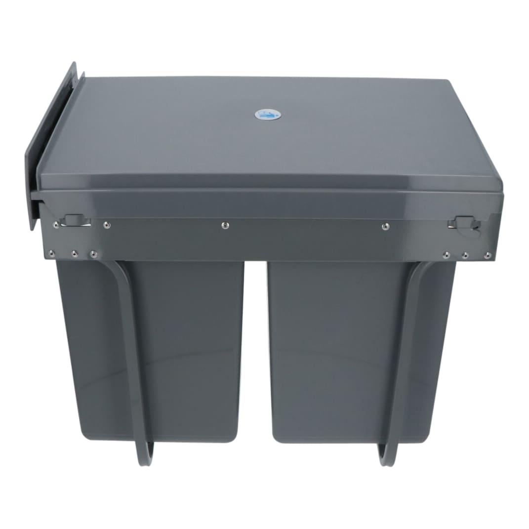 4cookz® Duo inbouwprullenbak 2x 20 liter - afvalscheiding - 40cm breed