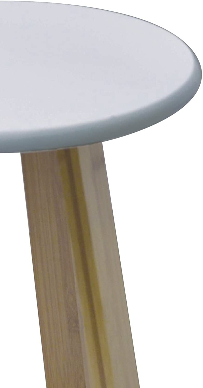4goodz stevige bamboe keukenkruk badkamerkruk 30x30x43 cm - Bruin