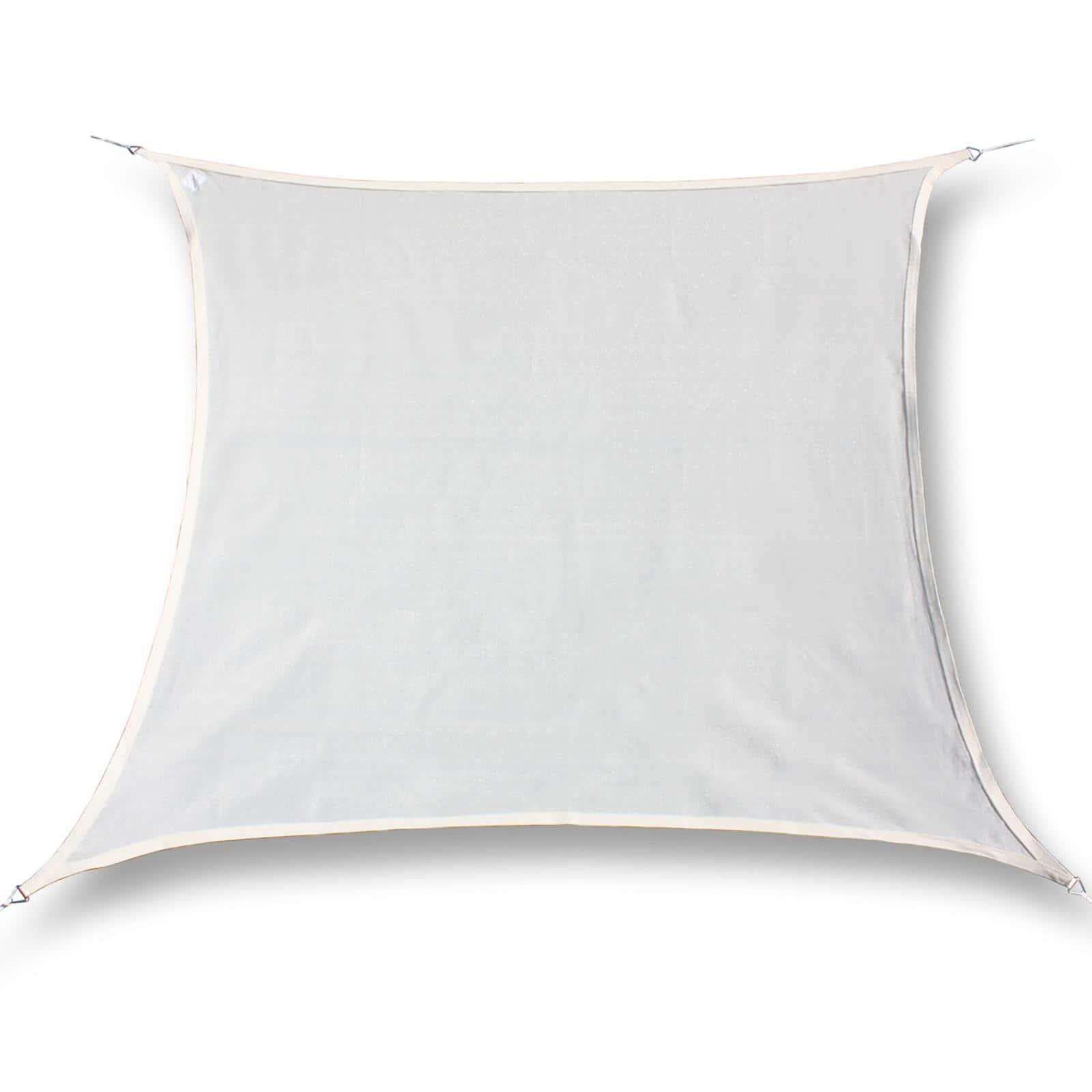 hanSe® Schaduwdoek Vierkant Waterdoorlatend 5x5 m - zonnedoek - Wit