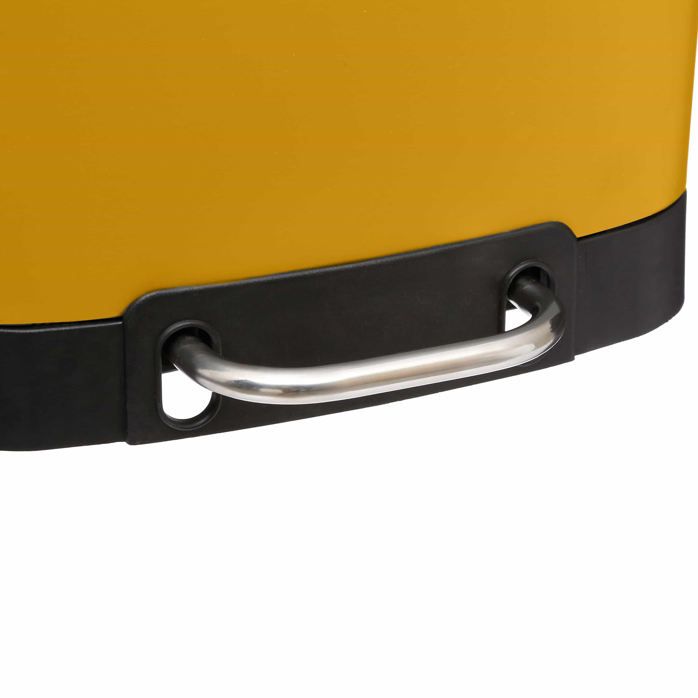 4goodz Pedaalemmer 6 liter met uitneembare binnen emmer - Mosterdgeel