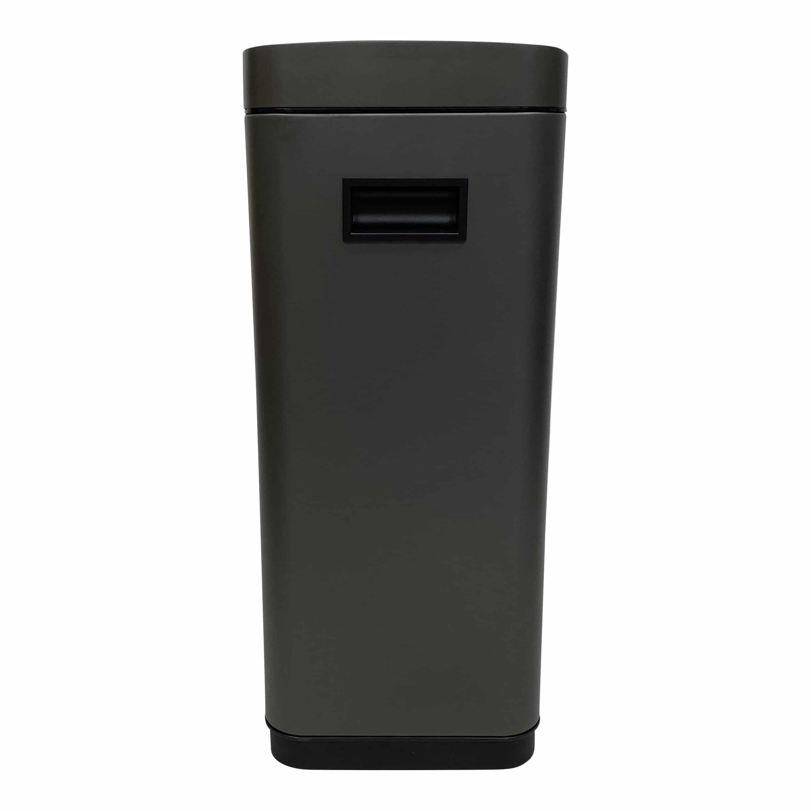4cookz® Iowa Matt Stainless sensor prullenbak - 50 Liter - mat Grijs