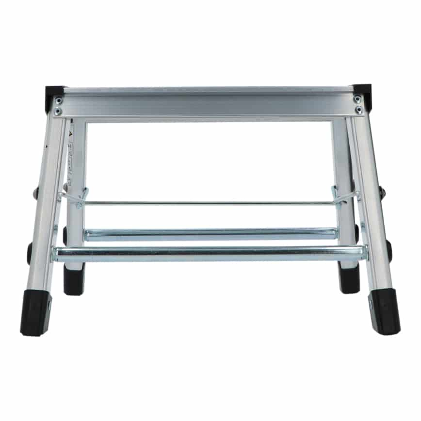 4goodz Stevige aluminium keukentrap met 1 trede - S - 38x36x25cm