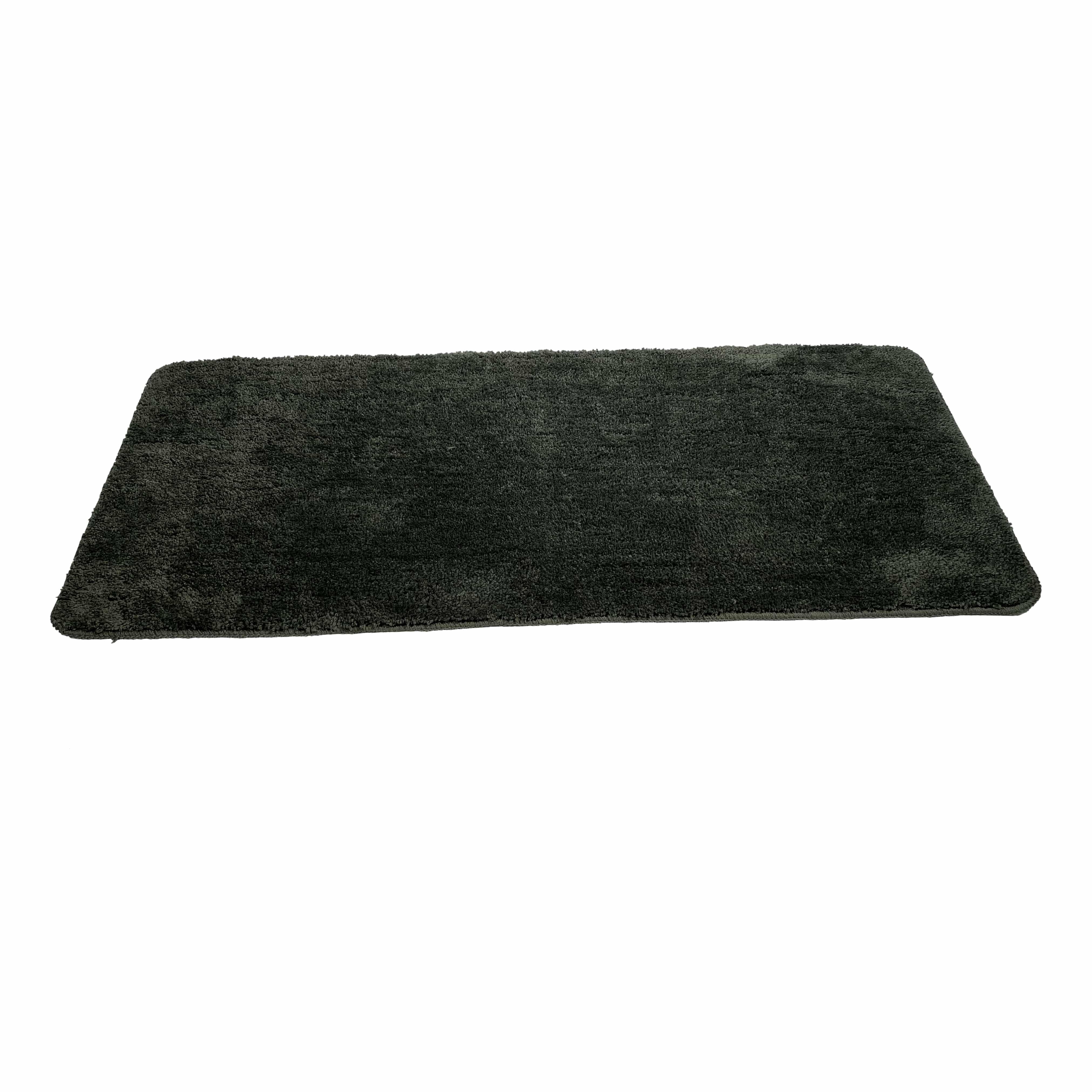 4goodz Anti-slip Douchemat voor dubbele wasbak 120x50 cm - Olijfgroen