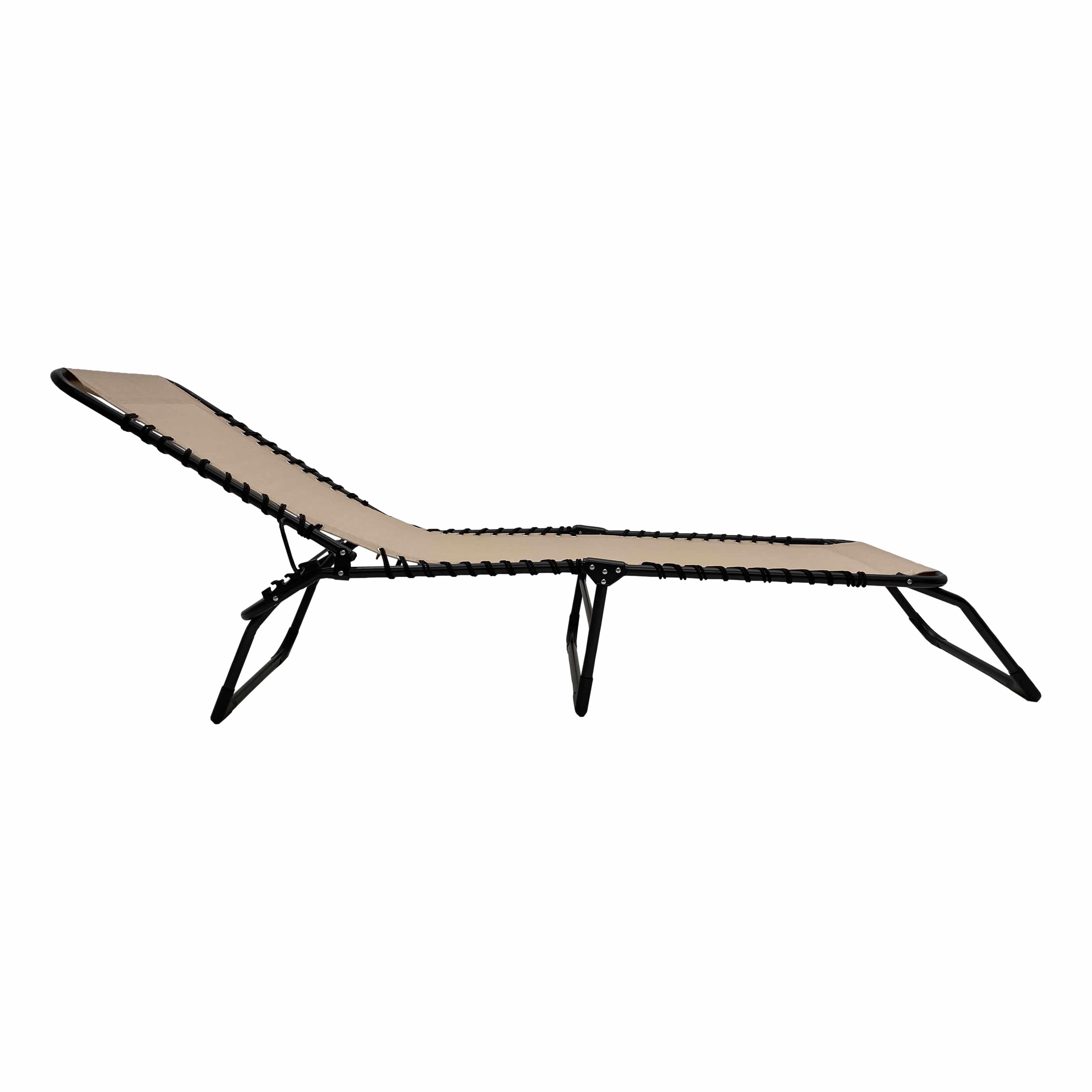 4gardenz® Comfortabel Ventilerend Opvouw Ligbed 190x57x28 cm - Creme