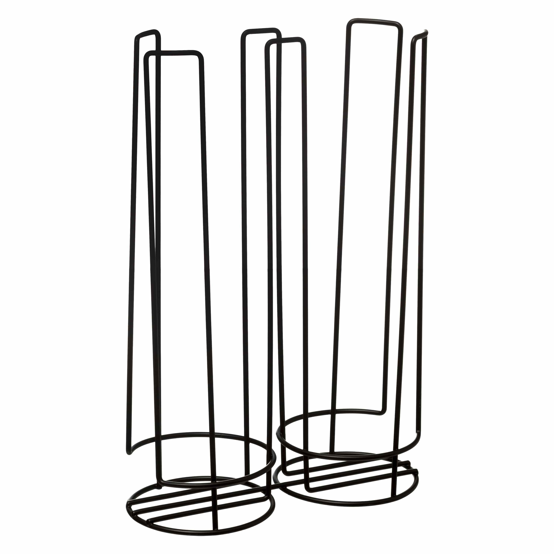 4goodz Capsulehouder Tassimo koffiecups 32 stuks 8.5x18x27 cm - Zwart