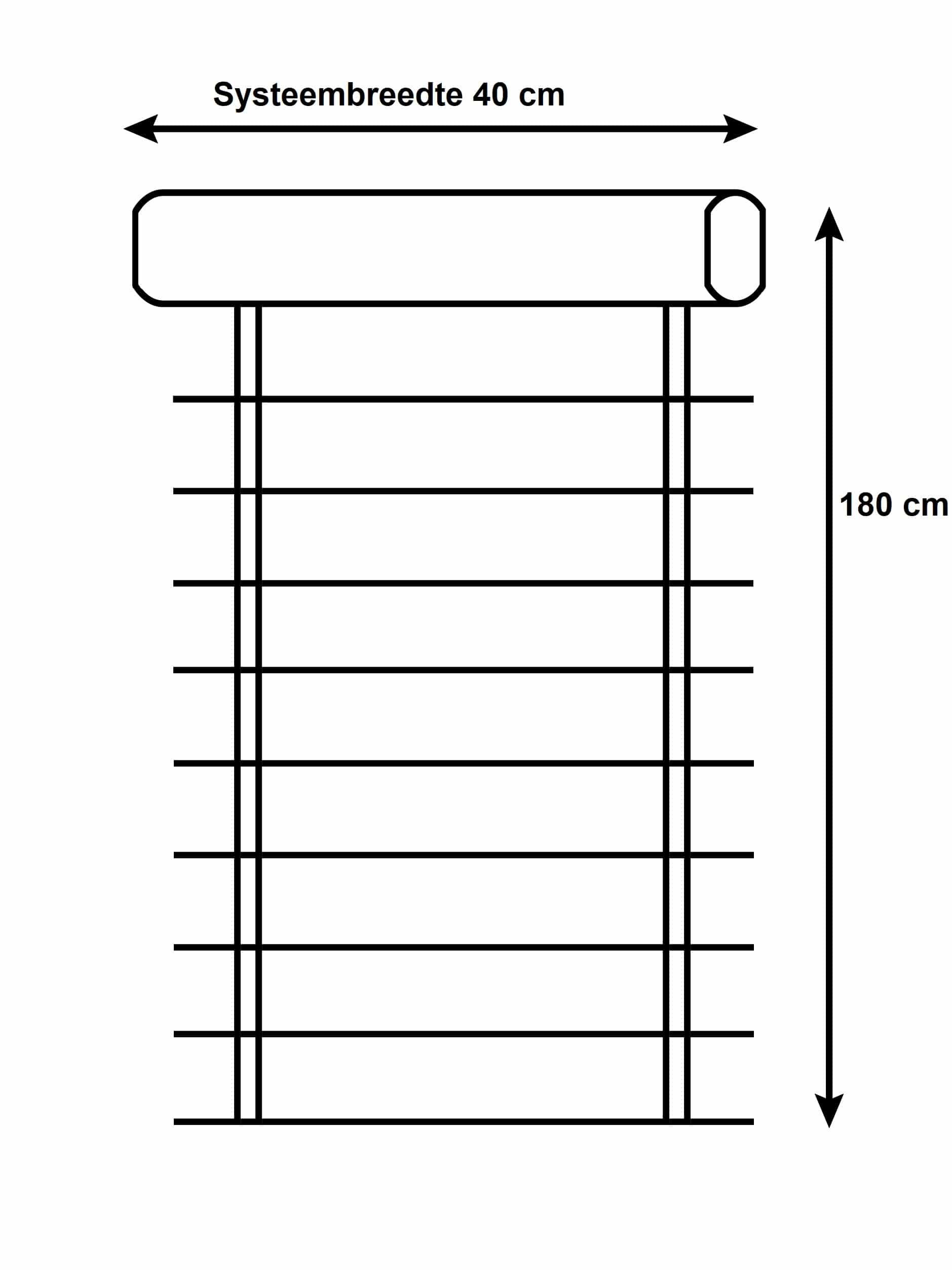 4Goodz Vochtbestendige PVC Jaloezie EASY 25 mm 40x180 cm - Grijs