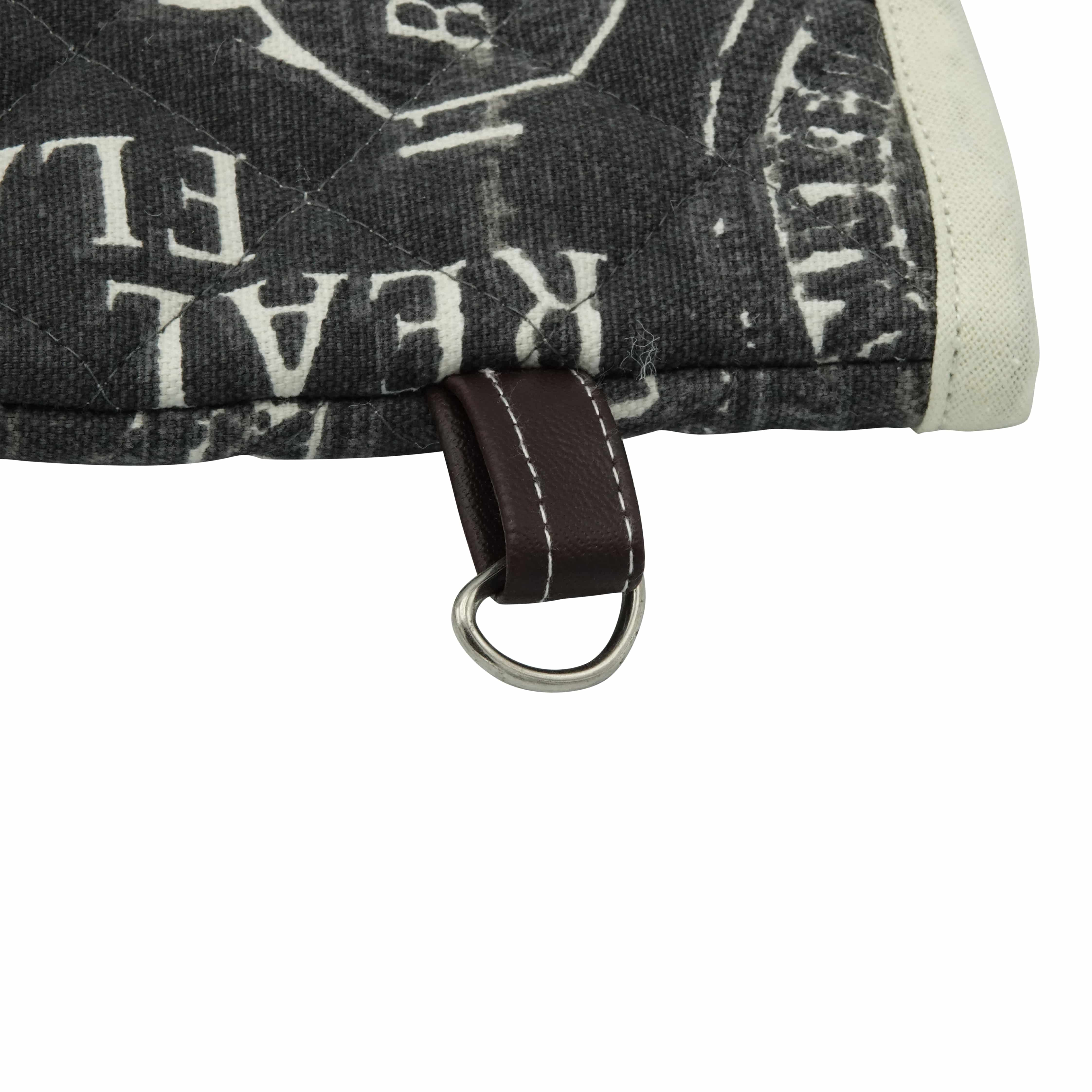 4cookz® BBQ set katoenen schort + handschoen Zwart