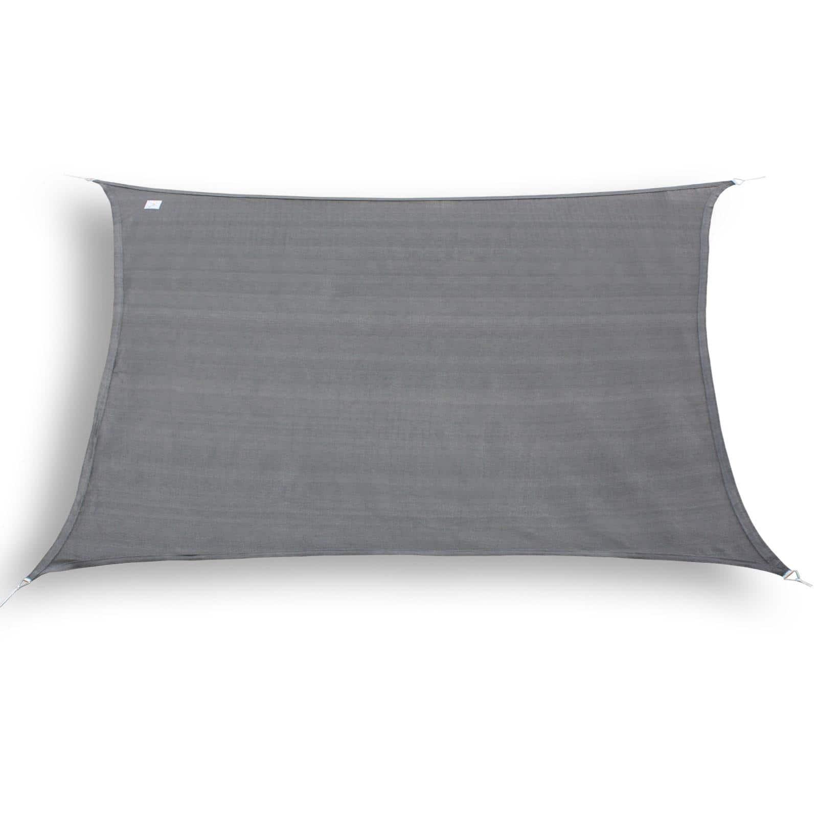 hanSe® Schaduwdoek Rechthoek Waterdoorlatend 4x6 m - zonnedoek - Grijs
