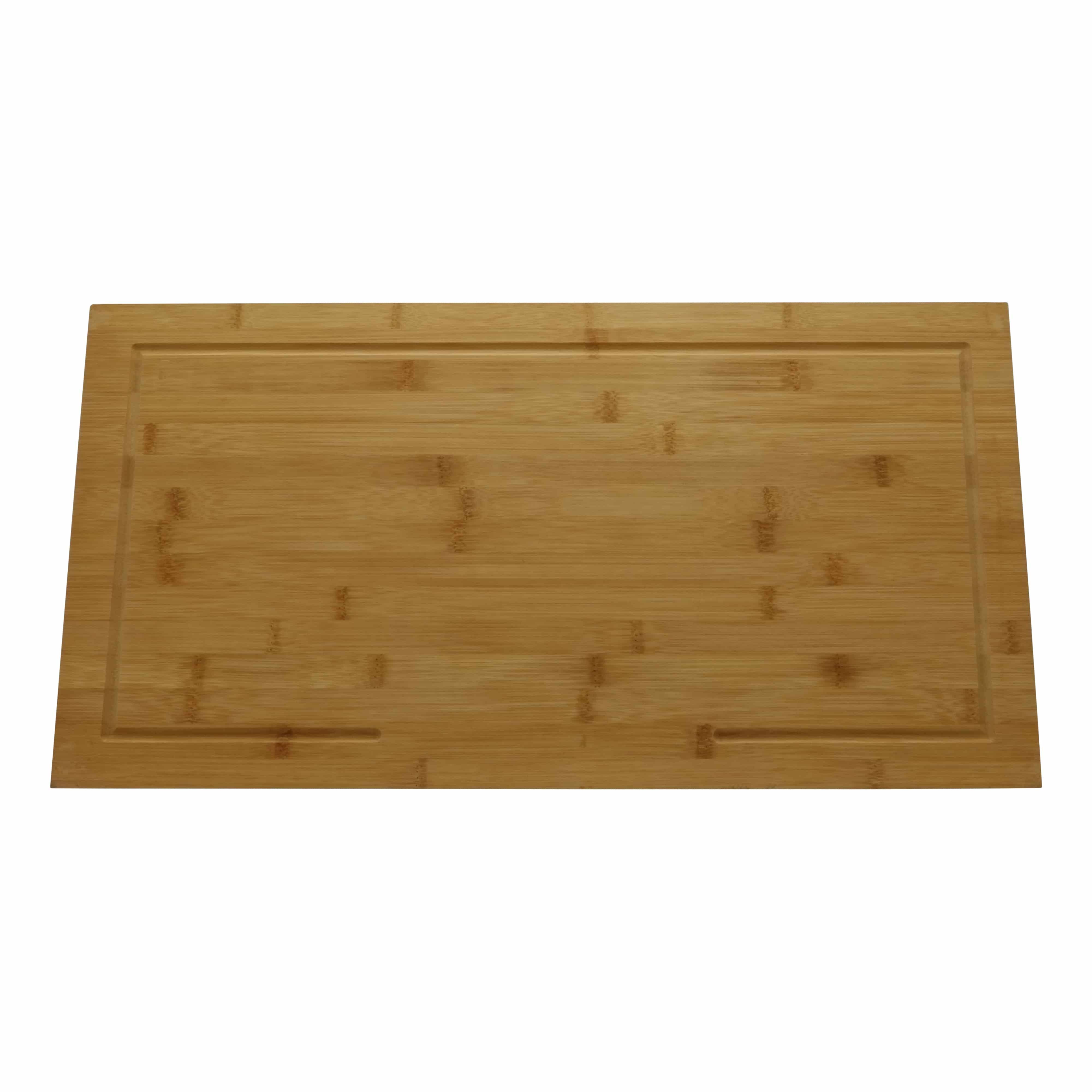 4cookz® Snijplank Verhoogd Bamboe en afdekplaat 52x28x4,3cm