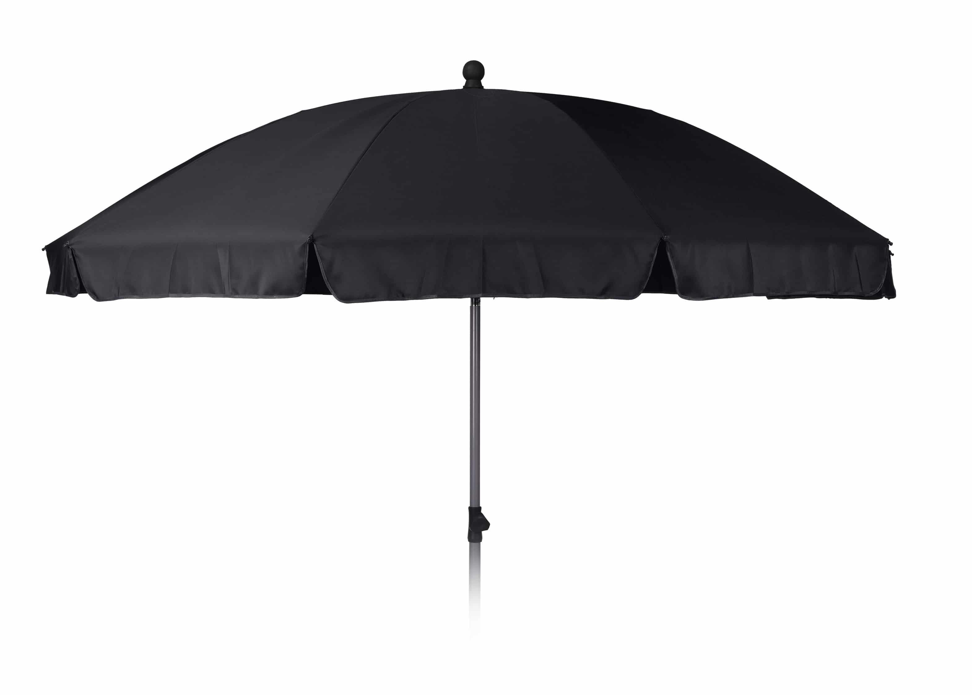 4goodz Parasol 250 cm met Knikarm met volant - grijze buis - Grijs