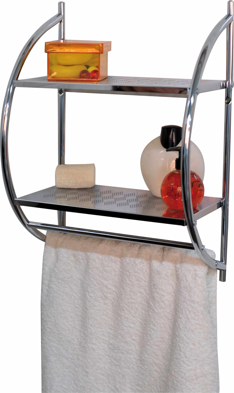 4goodz metalen handdoek wandrek 22x40x54 cm - Verchroomd