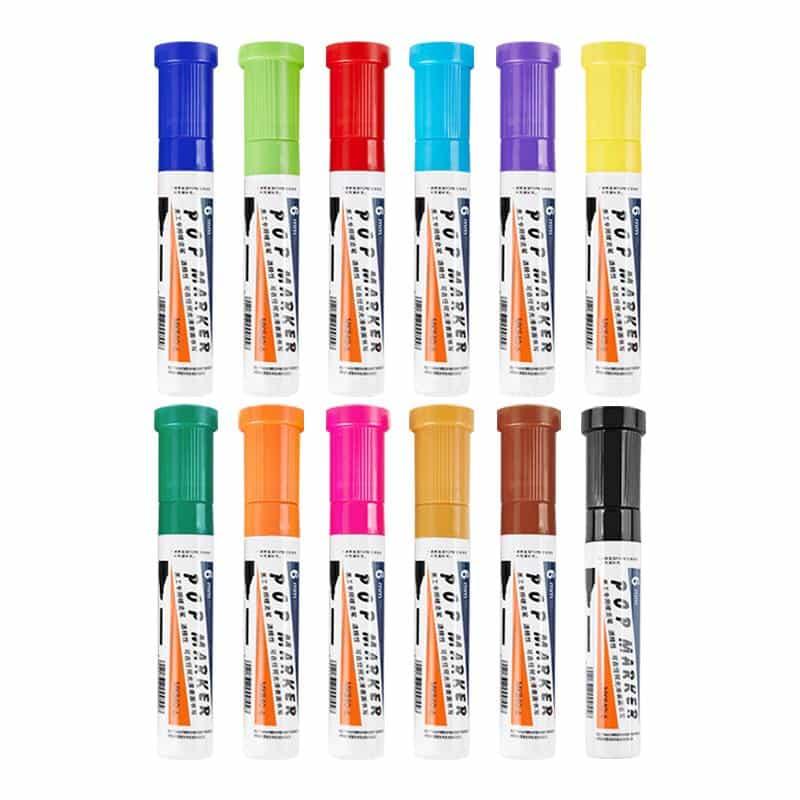 4artz® permanent markers kleuren 6 mm - brede stift op alcohol basis