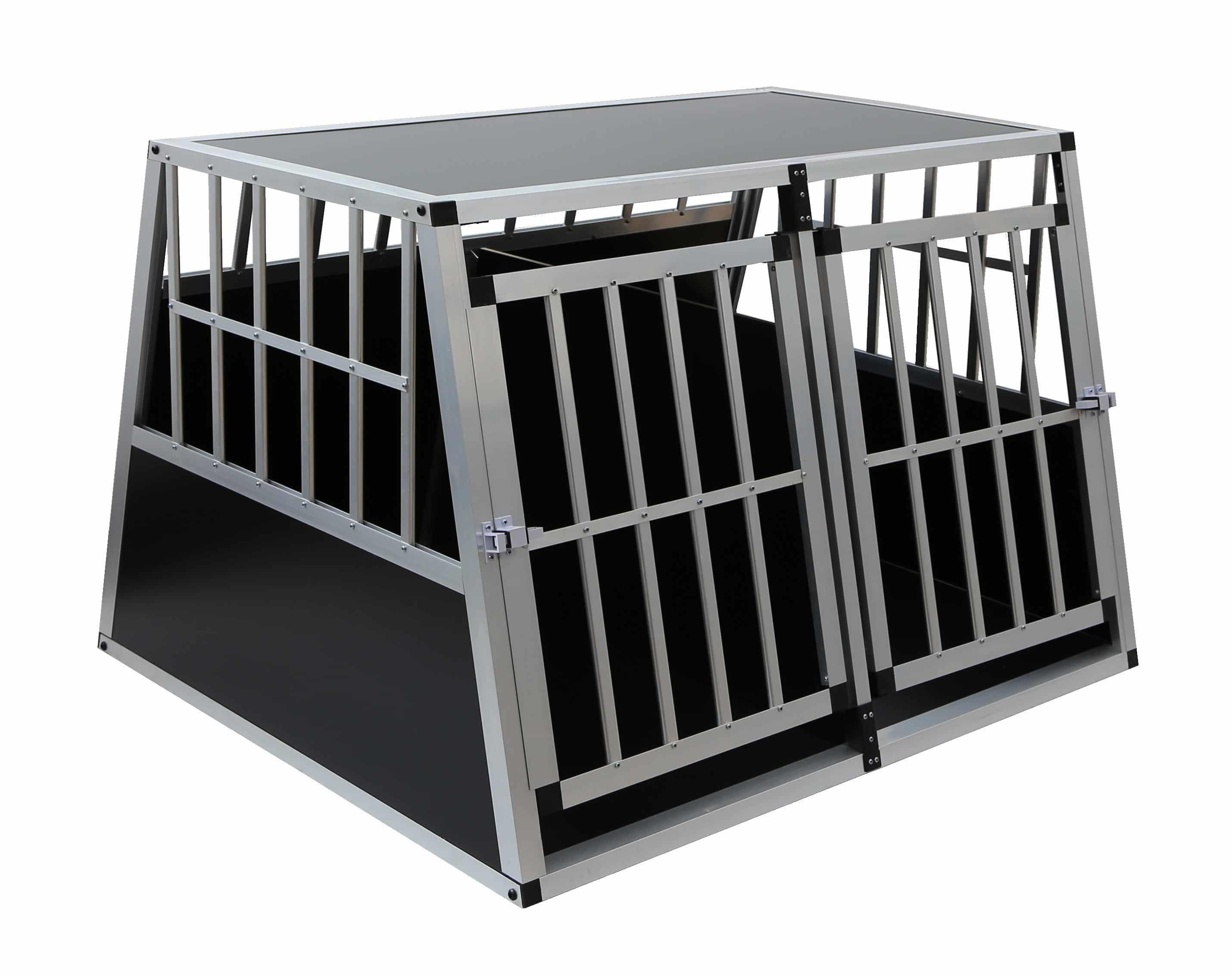 4animalz Trapeze Black Large aluminium hondenbench - 104x90x69cm