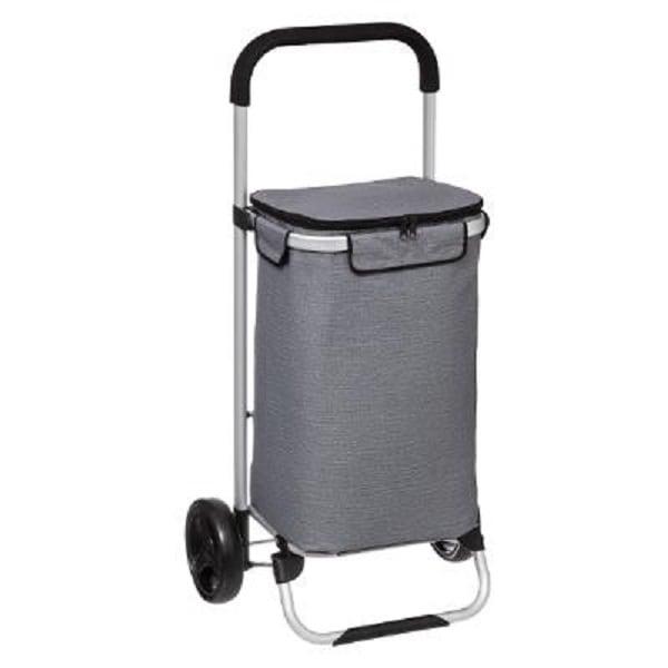 4goodz Boodschappentrolley Cool met isolerende tas - 40L - Grijs