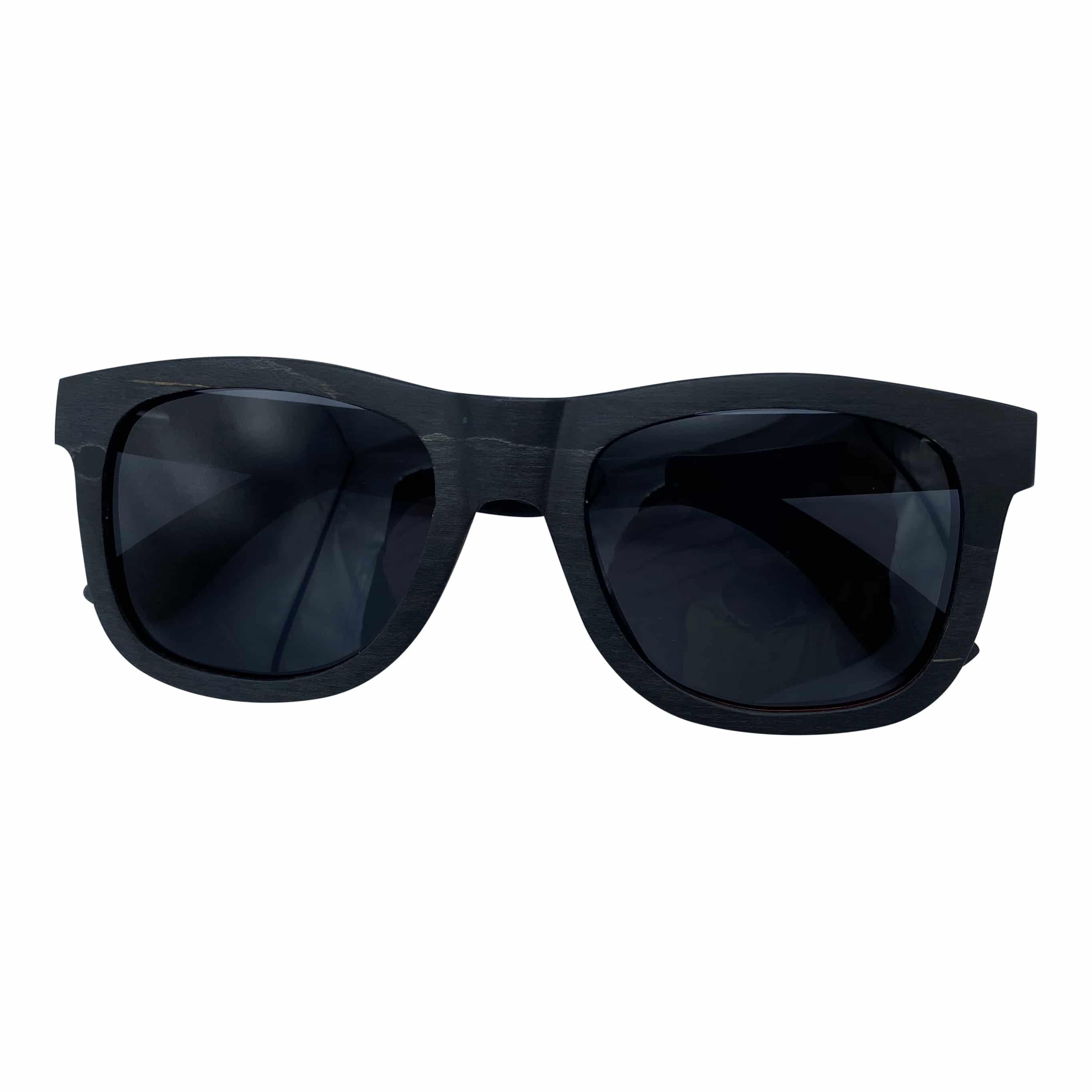 5one® wayfarer 2.0 Black/Red - houten Zonnebril - Grijze lens