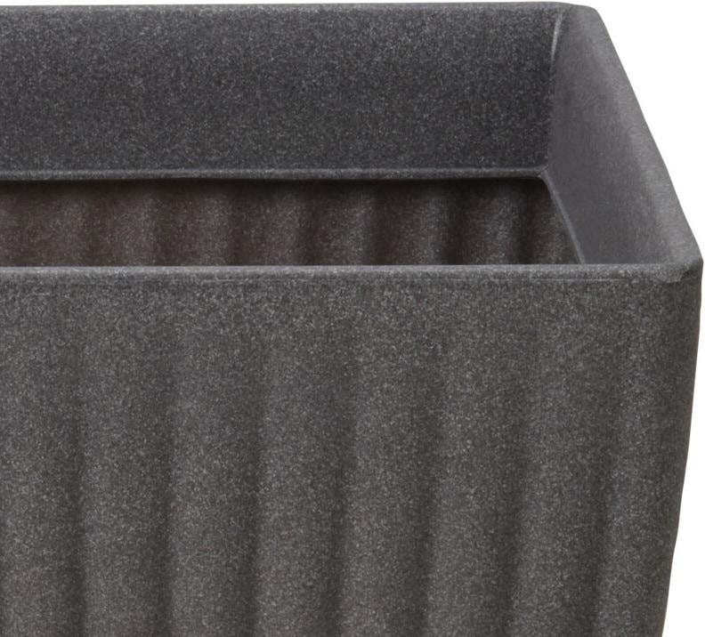 4Goodz Bloempot Vierkant voor buiten Milaan laag - 40x40x42 cm - Grijs