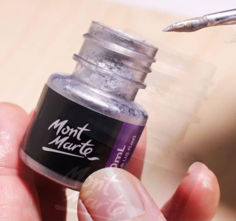 Mont Marte® Premium zilver folie verf 20ml - detailverf