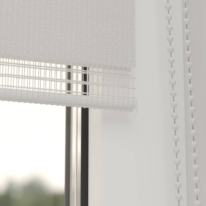 4Goodz Duo Rolgordijn Easy Lichtdoorlatend 45x180 cm - Wit